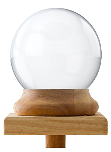 Amlong Crystal Newel Post Cap Finial - Crystal Ball