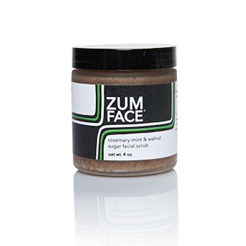 Indigo Wild Zum Face Walnut Sugar Facial Scrub, Rosemary-Mint, 5 Ounce