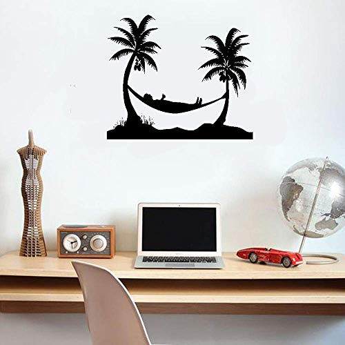 kiyua Wall Stickers Decal Removable Vinyl Decal Quote Art Palm Beach Tropical Relax Ham