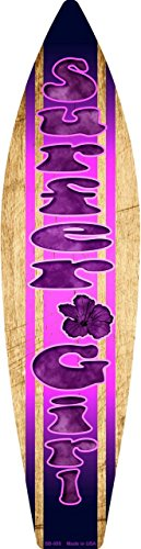 (Pride Plates Surfer Girl Metal Novelty Surf Board Sign SB-055)