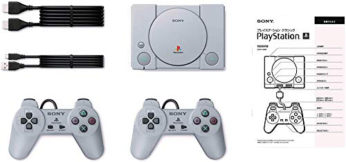 Playstation Classic Console Holiday 20 Games Bundle with USB AC Adaptor