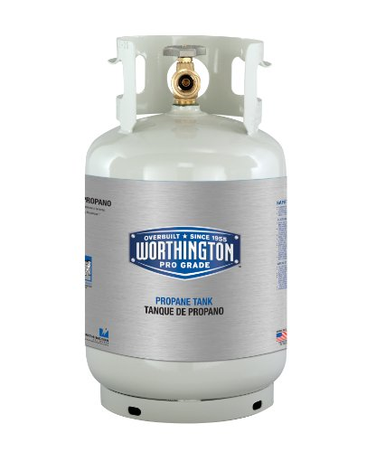 11 Lb Propane Tank (Worthington 281166 11-Pound Steel Propane Cylinder With Type 1 With Overflow Prevention Device Valve)