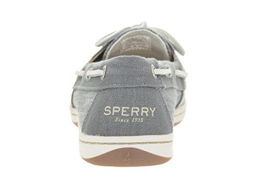 sider Women's Boat Sperry Firefish medium c Top Leather Grey Canvas Shoe Ripstop 5TFxSHqwx