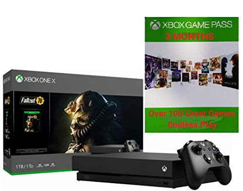 2019 Newest Xbox One X True 4K HDR Gaming 1TB / 2TB Console with Wireless Controller, Fallout 76 Game and 3 Month Game Pass | Customize 1TB/2TB Hard Drive