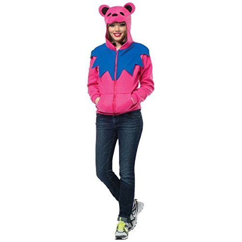 Dancing Bear Costumes (Grateful Dead Dancing Bear Hoodie Costume - Large/XL - Chest Size 42-48)