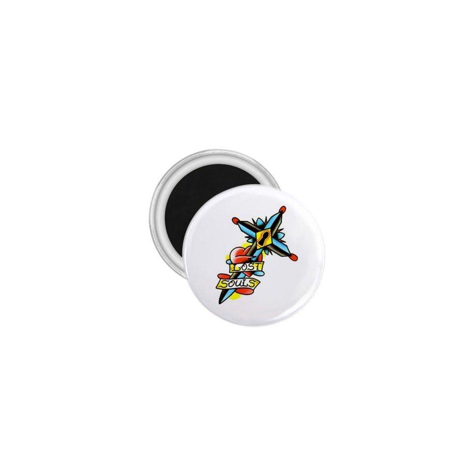 Tattoo Cross Life Art Fridge Souvenir Magnet 2.25
