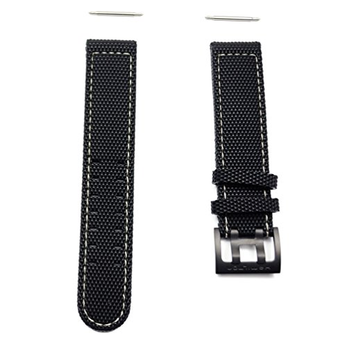 (Hamilton Khaki Field rubber strap with buckle black titanium)