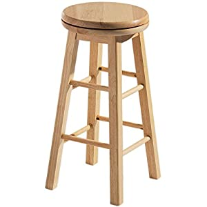Chef Vida Breakfast Bar Stool Wooden Revolving Kitchen