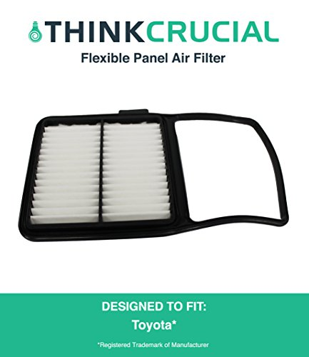 "Premium Rigid Panel Air Filter, Fits Toyota Prius Hybrid, Maximum Air Flow, 1.04"" x 7.34"" x 11.35"" in., Part A25698 and CA10159, by Think Crucial"