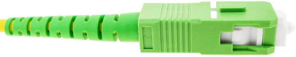 BeMatik Fiber Optic Cable SC//APC to SC//APC Singlemode Simplex 9//125 of 25 m OS2