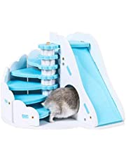 Hemobllo Hamster Hideout Hamster House Wooden Hamster Nest Small Animal Sleeping Cage for Guinea Pig Hamster Hedgehog Mouse Rat