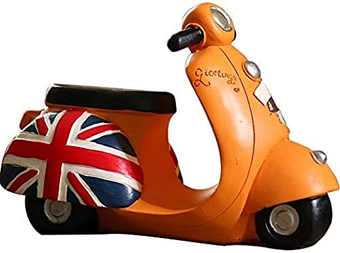 ZLBYB Decoración Escultura, Decorativo Rojo de la Motocicleta Chopper Figurines como Motorista Bar o Regalos de la Cocina Vector de la decoración (Color: Naranja, Tamaño: 20 * 8 * 13cm)