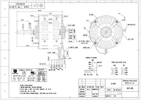 a1585, 1/3hp furnace blower motor, 115v, 1075rpm, 6.1amp - - amazon.com  amazon.com