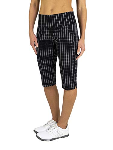 Slimmer Pedal Pusher- Twill Check-L