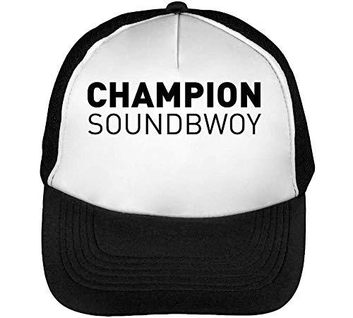 Gorras Hombre Soundbwoy Champion Blanco Negro Snapback Beisbol 5qwUxTPnc