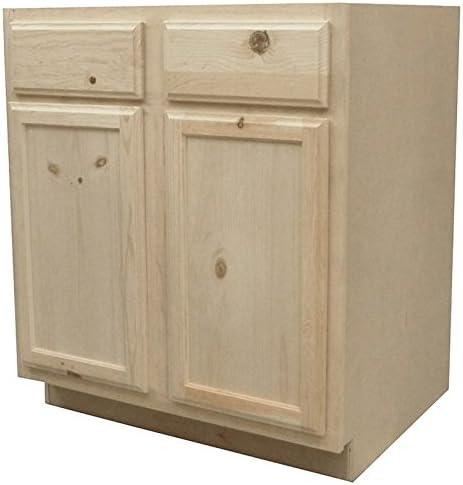 Kapal Kitchens B30-pfp Unfinished Base Assembled Cabinet ...