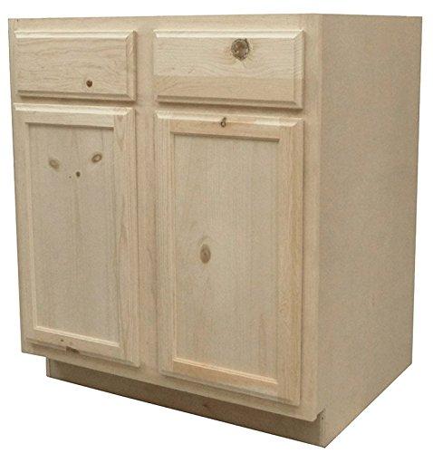 Kapal Kitchens B30-pfp Unfinished Base Assembled Cabinet, Pine, 30