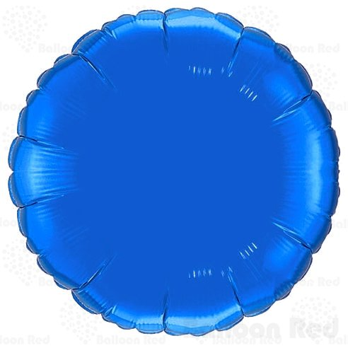 18 Inch Helium Foil Mylar Balloons (Premium Quality), Pack of 6, Round - - Round V Blue