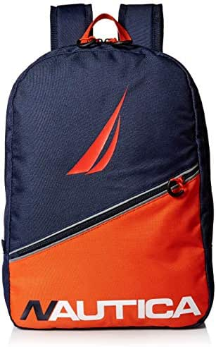 Nautica Diagonal Front Zip Full Size Backpack for Kids