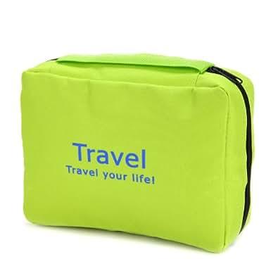 Anladia@ Neceser Portátil Bolso para Viaje Multibolsillo impermeable Organizador Color Verde