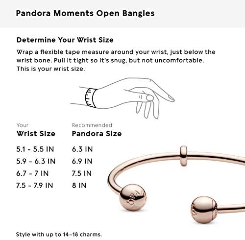 Pandora Jewelry - Pandora Rose Open Bangle Bracelet for Women in Pandora Rose