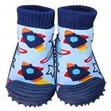 C2BB - Zapatillas-calcetines bebé niño antideslizantes suela flexible para niños | Pequeño cohete - Tamaño 19