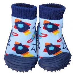 C2BB - Zapatillas-calcetines bebé niño antideslizantes suela flexible para niños   Pequeño cohete - Tamaño 19