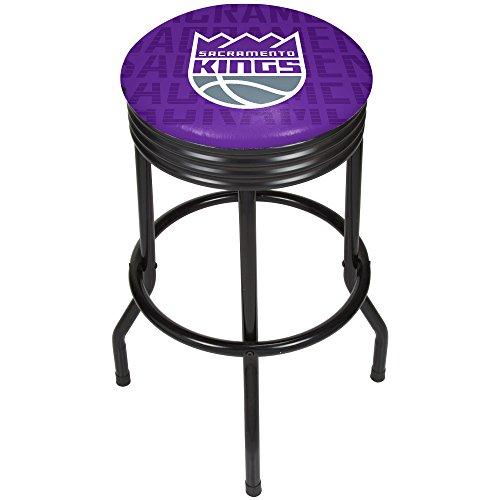 Trademark Gameroom NBA1006-SK3 NBA Black Ribbed bar Stool - City - Sacramento Kings