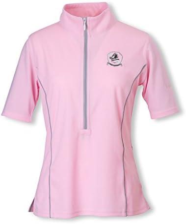 EQULIBERTA(エクリベルタ) 2017SS クールスポーツシャツ レディース ピンク L EQ-CW-1629-LA