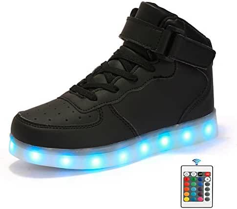 Qkettle Kids 20 Models LED Shoes Boys Girls Light Up Sneakers With Remote Control