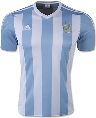 Adidas Argentina Home Soccer Jersey Climacool (White, Blue) -