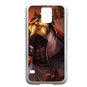 Gragas-003 League of Legends LoL case cover Samsung Galaxy Note2 N7100/N7102 - Rubber White