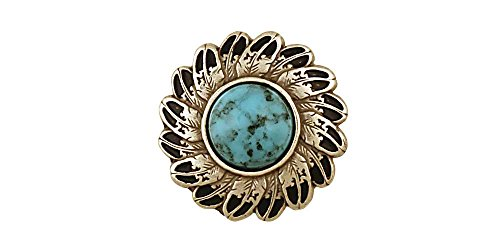 (Tandy Leather Turquoise Feather Concho 1-1/4