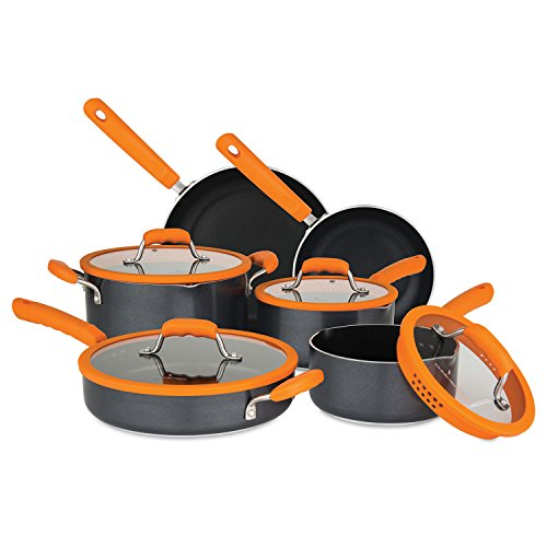 cookware set with straining lids - 2