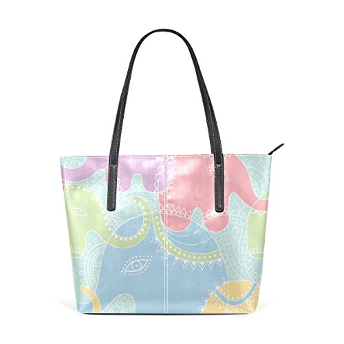 COOSUN Elefant Muster PU Leder Schultertasche Handtasche und Handtaschen Tasche für Frauen