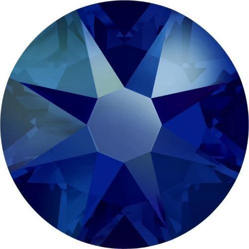 arovski Flatback Crystals Non Hotfix Cobalt Shimmer | SS12 (3.1mm) - Pack of 100 | Small & Wholesale Packs | Free Delivery (Cobalt Sealed Range)