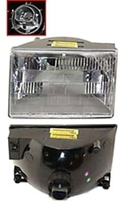 Discount Starter & Alternator CH2502104 Replacement Headlight Jeep Grand Cherokee Driver Side Plastic Lens W/ Bulbs