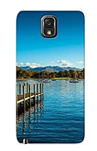 Galaxy Note 3 ZFdwbdp668zhyhf Wooden Pier To The Lake Silicone Gel Case Cover For Lovers