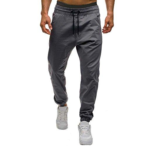 Men's Activewear Pants,Men Autumn Winter Casual Tether Elastic Design Pants GY/M