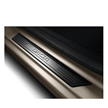 Genuine Dacia Duster, Logan y Sandero placas de umbral de la puerta frontal/entrada guardias: Amazon.es: Coche y moto