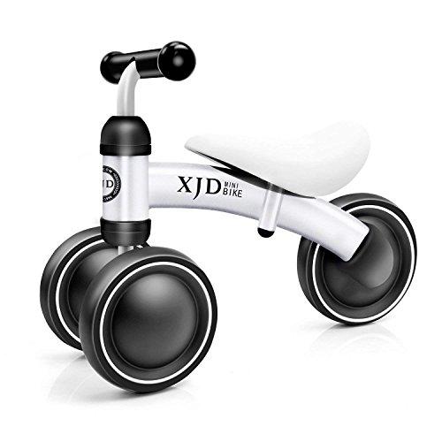 XJD Mini Trike Mini Bike For Toddlers, Kids Learn To Walk For 1-3 Years Old Kids No- Pedal 3 wheels Mini Balance Bike (Mini Red Tricycle)