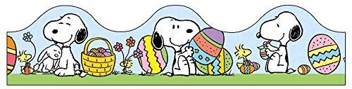 "Eureka Peanuts It's The Easter Beagle Deco Trim, Set of 12 Reusable Strips, Each Strip Measuring 37"" long"