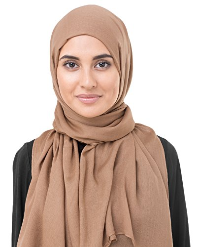 InEssence Toasted Nut Brown Viscose Woven Scarf Women Girls Wrap Large Size...