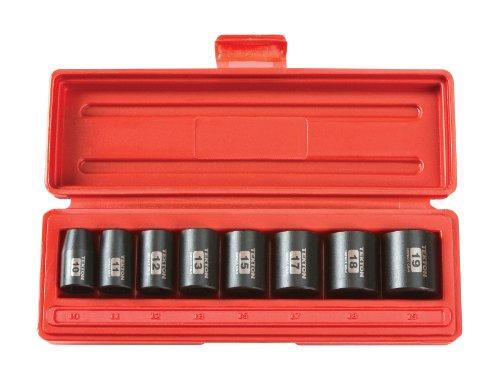 Shallow Metric Socket (TEKTON 3/8-Inch Drive Shallow Impact Socket Set, Metric, Cr-V, 6-Point, 10 mm - 19 mm, 8-Sockets | 4795)