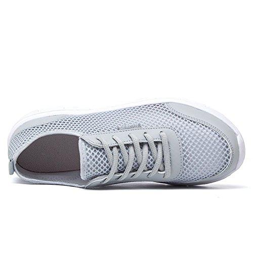 Scarpe Piatto Cricket Sportivo Tacco da Unita Tonda Tinta Grigio Sneaker Sportive Uomo Scarpe da Moda rHrqYT