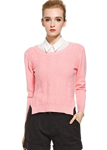Generic Women's Pure Short Sweater XXX-Small Pink by Generic