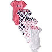Gerber Baby Girls Apparel - 18 Months - Flowers, 4 Pack