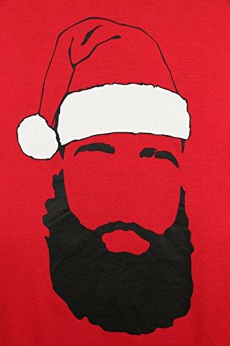 Nike Men's Dri-Fit James Harden 13 X-Mas Fear Beard Basketball T-Shirt-Red-XL