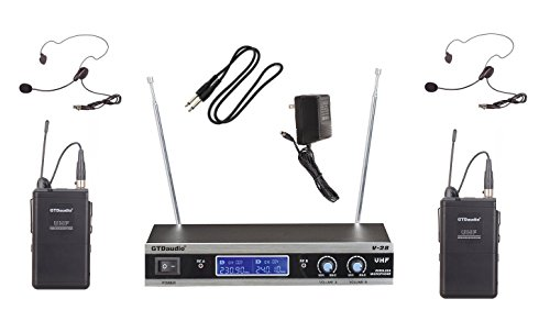 GTD Audio V-28L VHF Wireless Microphone System with Headset & Lapel mics ()