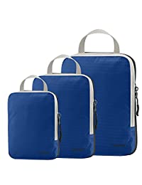 Set of 3 Gonex Packing Cubes, Clothing Compression Cube Extensible Storage Bags Organizers(Deep Blue)